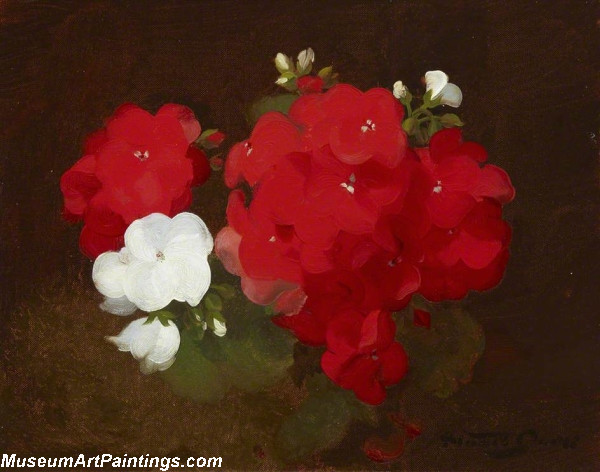 Famous Flower Paintings Geraniums