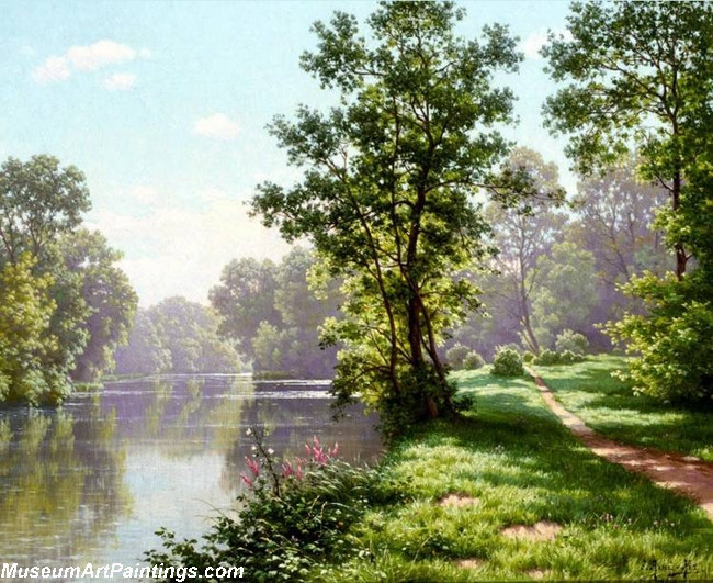 Famous Landscape Paintings 001 by Rene Charles Edmond His