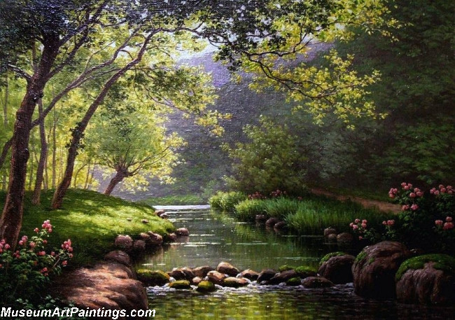 Famous Landscape Paintings 002 by Rene Charles Edmond His