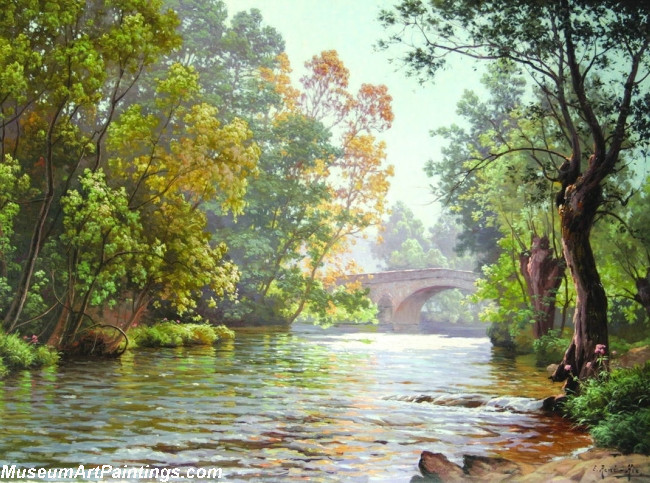 Famous Landscape Paintings 003 by Rene Charles Edmond His