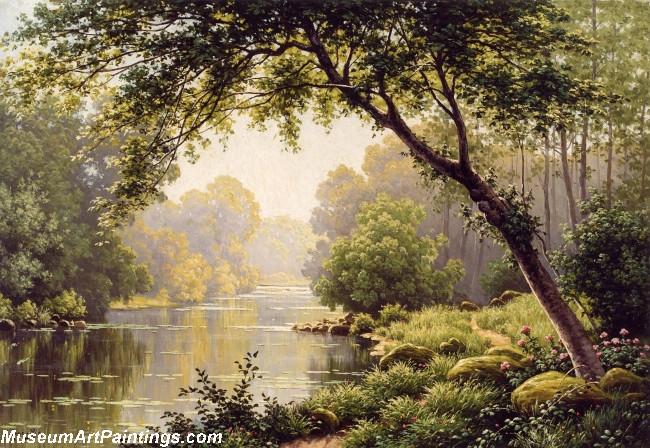 Famous Landscape Paintings Les Reflections sur la Marne
