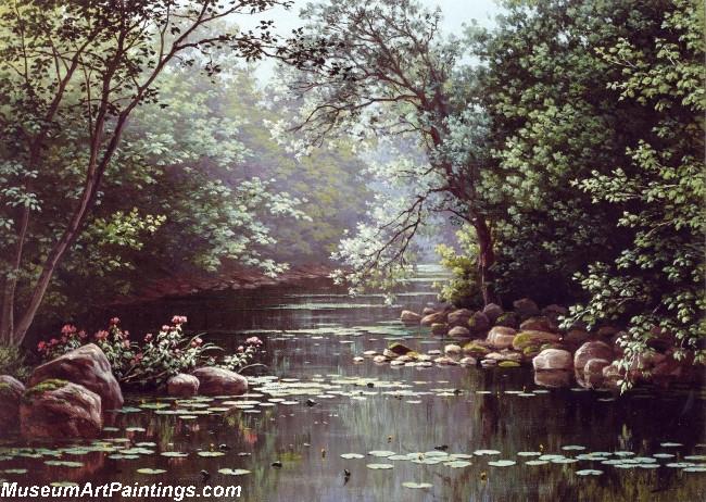 Famous Landscape Paintings River Landscape in Summer