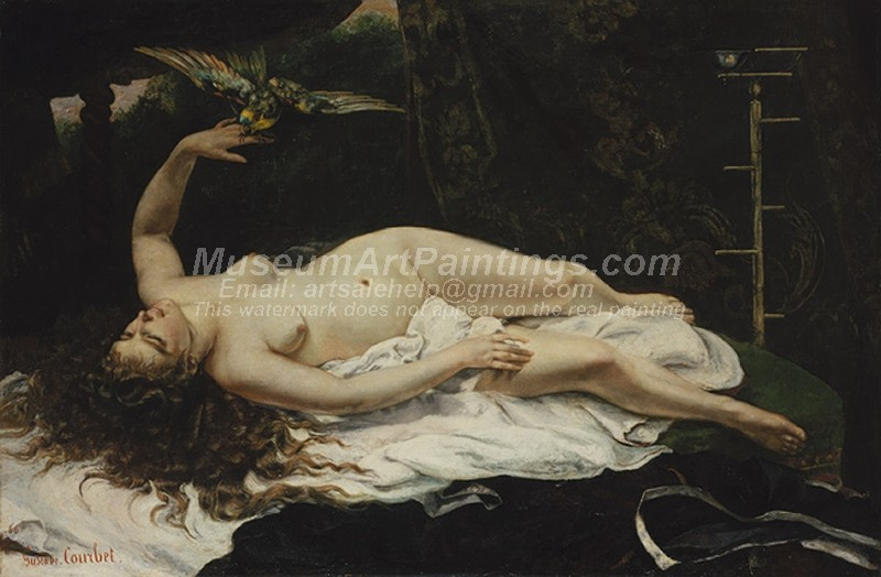 Famous Nude Paintings Woman with a Parrot