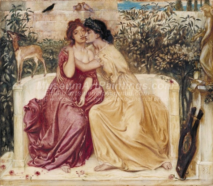 Famous Paintings Sappho and Erinna in a Garden at Mytilene