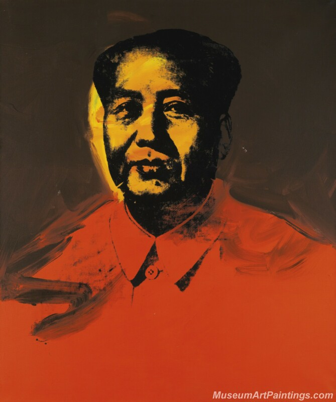 Famous Pop Art Paintings Mao Zedong Portrait by Andy Warhol PAP159