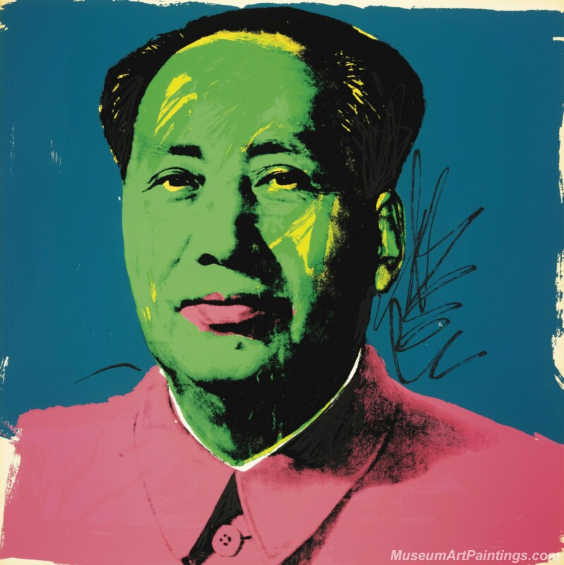 Famous Pop Art Paintings Mao Zedong Portrait by Andy Warhol PAP160