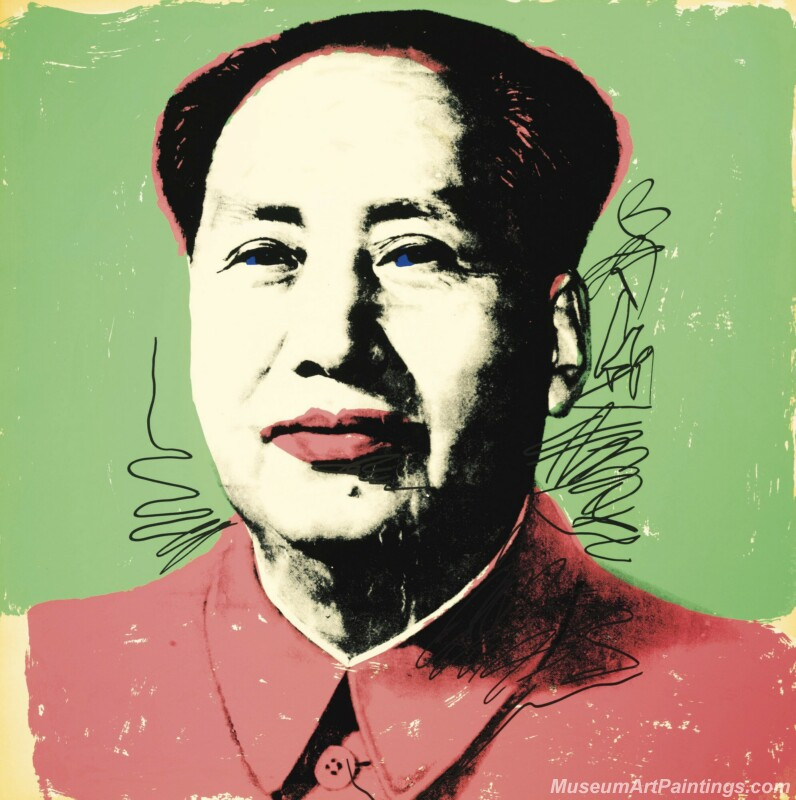 Famous Pop Art Paintings Mao Zedong Portrait by Andy Warhol PAP164