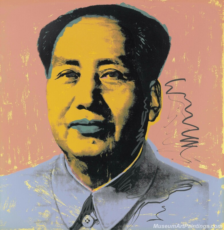 Famous Pop Art Paintings Mao Zedong Portrait by Andy Warhol PAP288