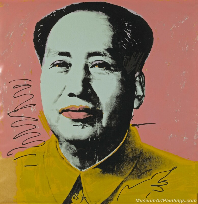 Famous Pop Art Paintings Mao Zedong Portrait by Andy Warhol PAP293