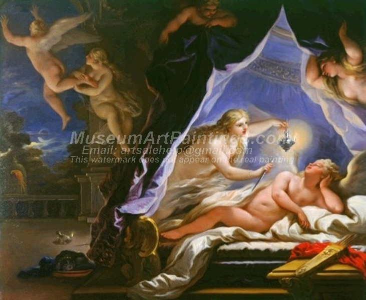 Famous Religious Paintings Psyche Discovering the Sleeping Cupid