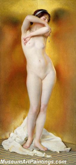 Famous Women Nude Painting Glow of Gold Gleam of Pearl