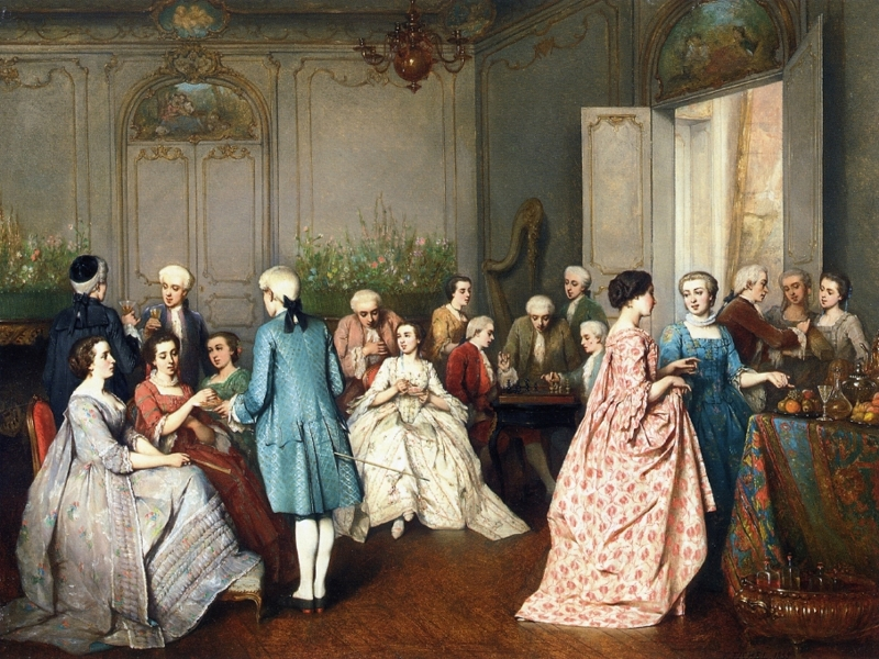 Fashionable Soiree by Benjamin Eugene Fichel