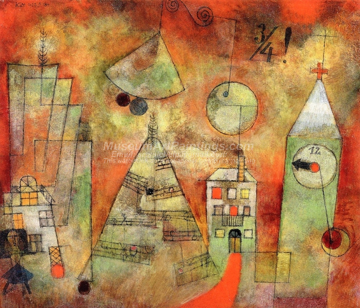 Fateful Hour at Quarter to Twelve by Paul Klee