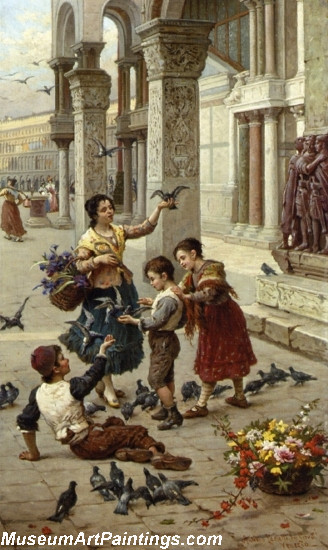 Feeding the Pigeons at Piazza St Marco Venice