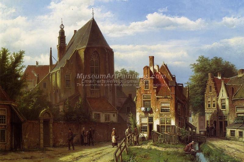 Figures in a Dutch Town