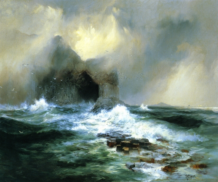 Fingals Cave Island of Staffa Scotland by Thomas Moran
