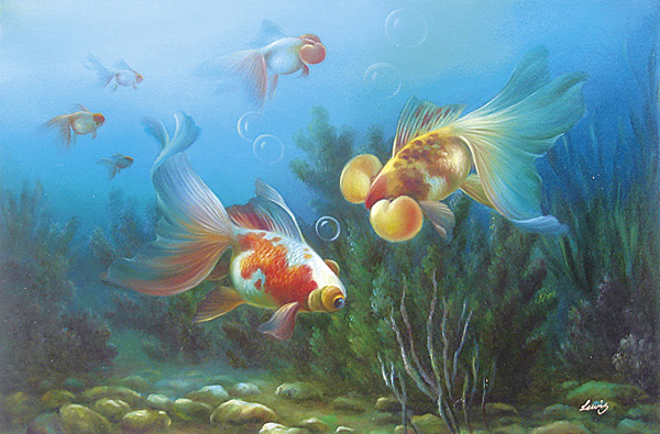 Fish Oil Paintings 019