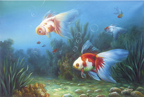 Fish Oil Paintings 021