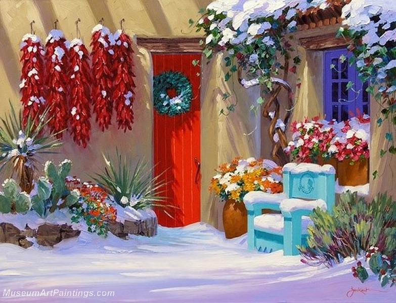 Flower Garden Oil Painting 004