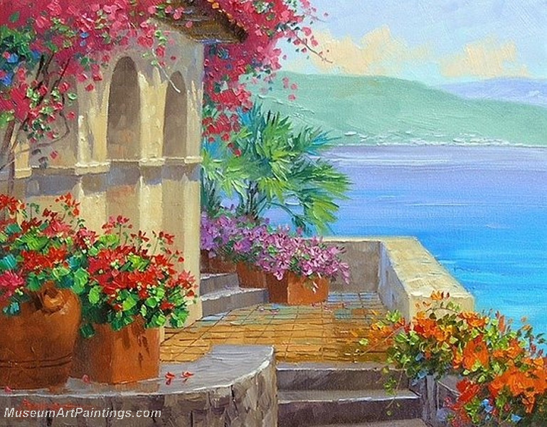 Garden paintings garden paintings for sale for Garden painting images