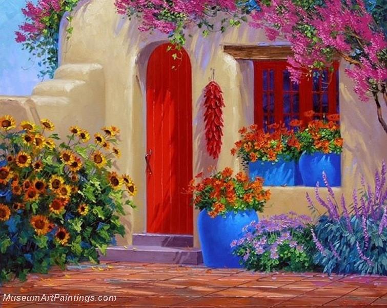 Flower Garden Oil Painting 013