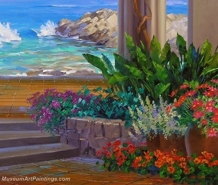 Flower Garden Oil Painting 018