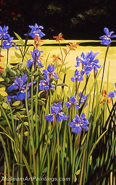 Flower Garden Oil Painting 020