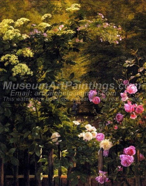 Flower Garden Oil Paintings The Rose Garden