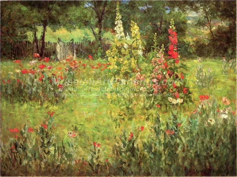 Flower Garden Paintings Hollyhocks and Poppies The Hermitage