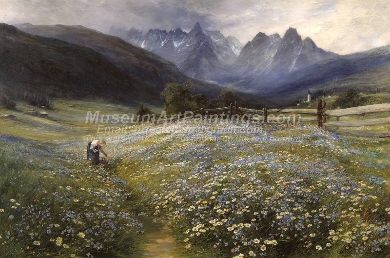 Flower Garden Paintings June in the Austrian Tyrol