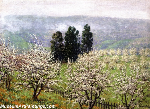 Flower Garden Paintings Prune Blossoms of Saratoga
