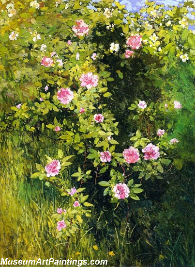 Flower Garden Paintings flower garden paintings rose rambler