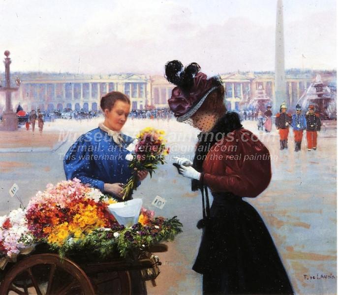 Flower Merchant Place de la Concorde Paris