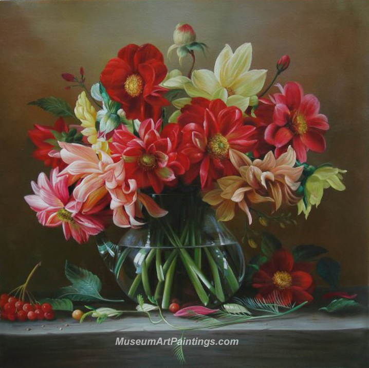 Flower Oil Painting A Vase Of Flowers
