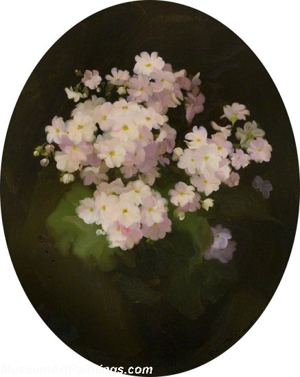 Flower Oil Painting Primulas 1