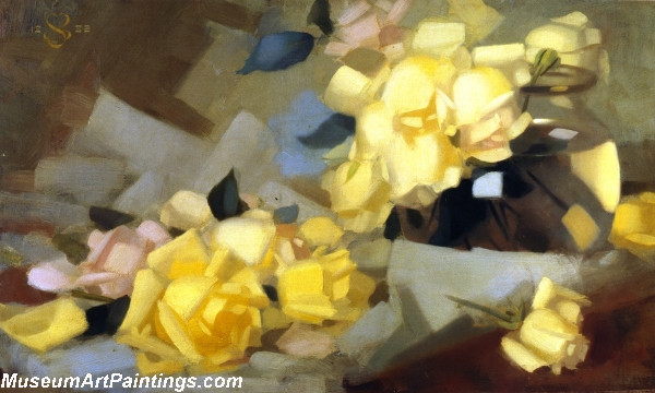 Flower Oil Painting Roses
