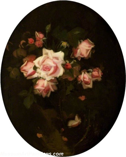 Flower Oil Painting Roses La France