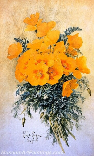 Flower Painting A Bunch of California Poppies