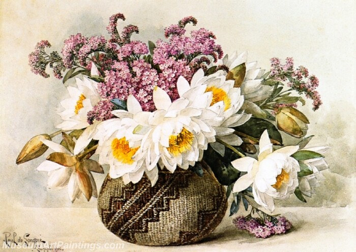 Flower Painting Floral with Indian Basket