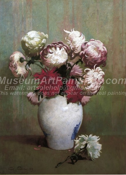 Flower Paintings Chrysanthemums in a Canton Vase