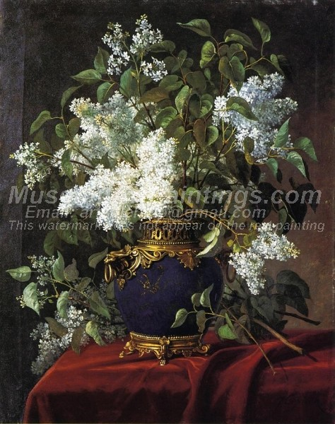 Flower Paintings White Lilacs