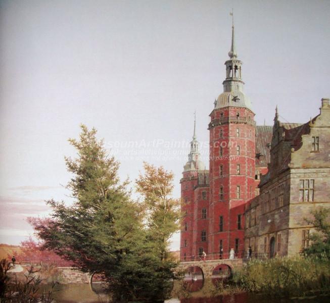 Frederiksborg Castle Seen from the Northwest by Christen Kobke
