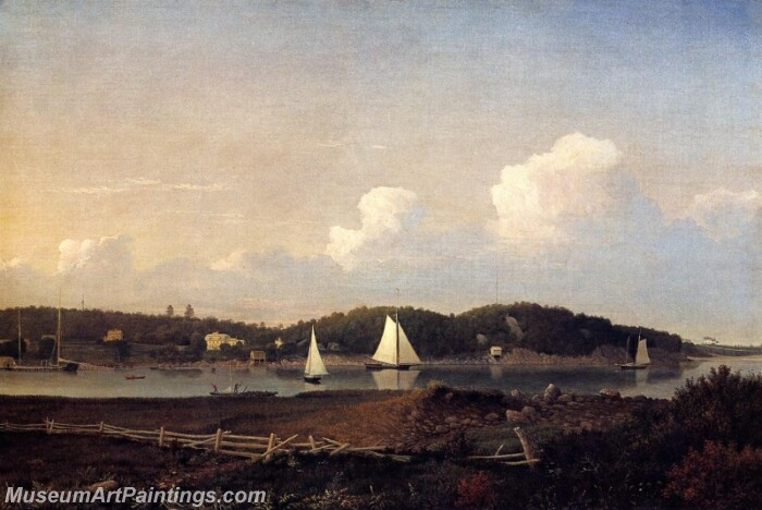Fresh Water Cove from Dollivers Neck Glouster Painting