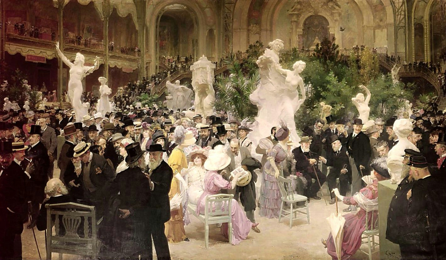 Cafe scene in paris by henri gervex for Salon des antiquaires paris