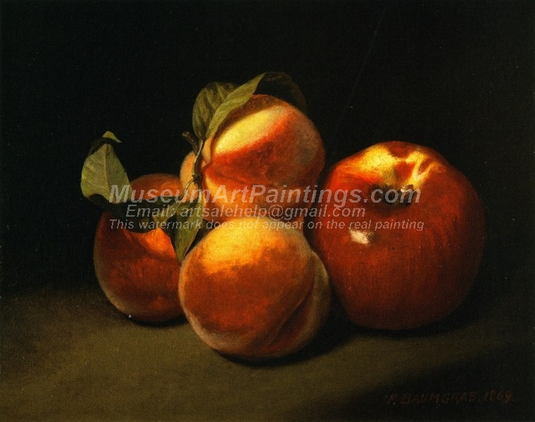 Fruit Oil Paintings Still Life of Apples and Peaches