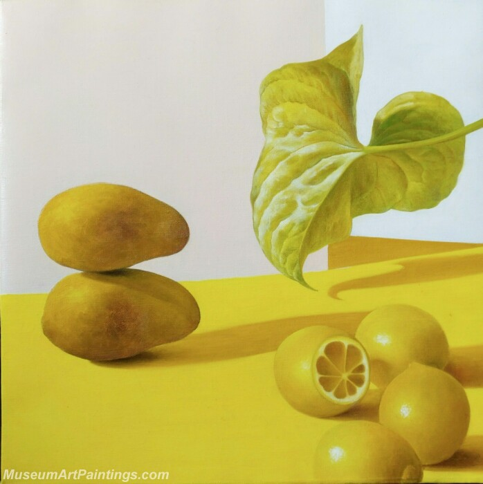 Fruit Painting Lemons and Mangos