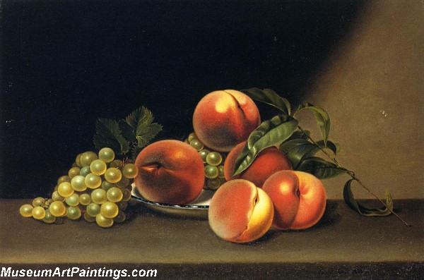 Fruit Paintings Peaches and Grapes