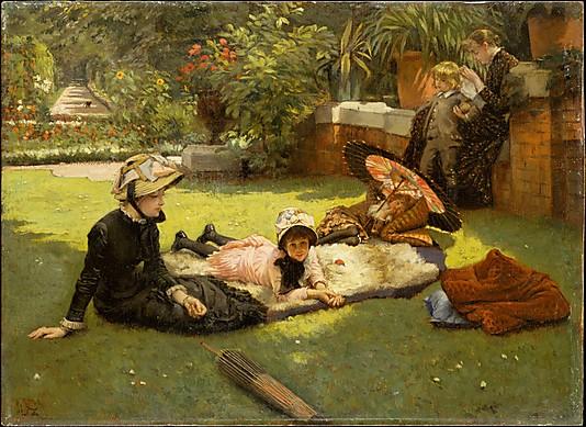 Garden Oil Paintings En plein soleil