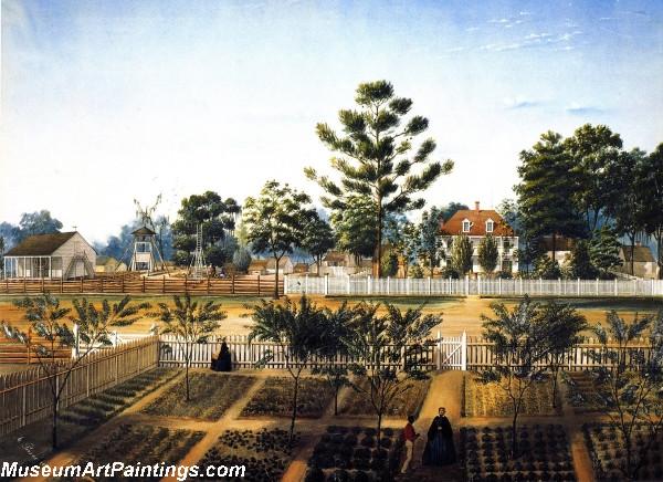 Garden Painting Bois de Fleche by Marie Adrien Persac