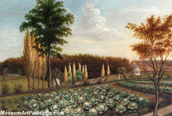 Garden Painting Cabbage Patch The Gardens of Belfield Pennsylvania